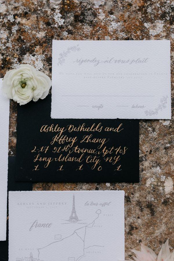 French Chateau Wedding - invitations wedding