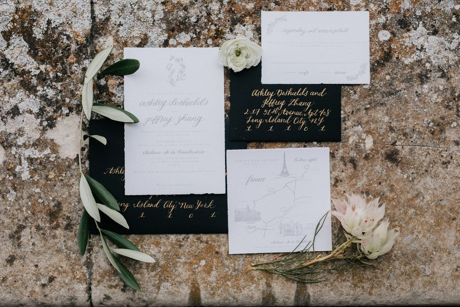 French Chateau Wedding - Stationery