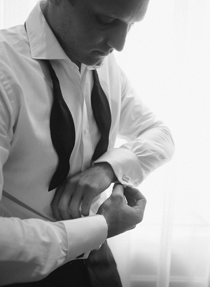 Intimate Wedding on the Riviera - groom getting ready