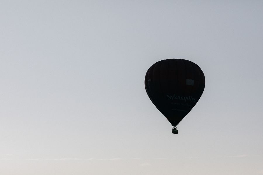 French Chateau Wedding - Hot Air Balloon