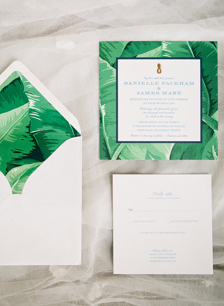 Intimate Wedding on the Riviera - stationery wedding