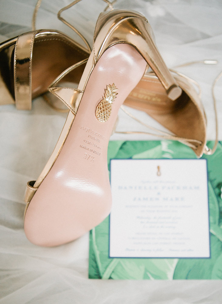 Intimate Wedding on the Riviera - bride shoes