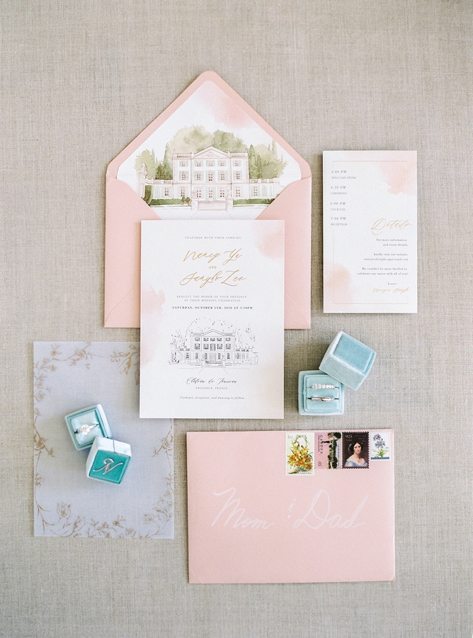 Stationery Romantic Wedding in Provence