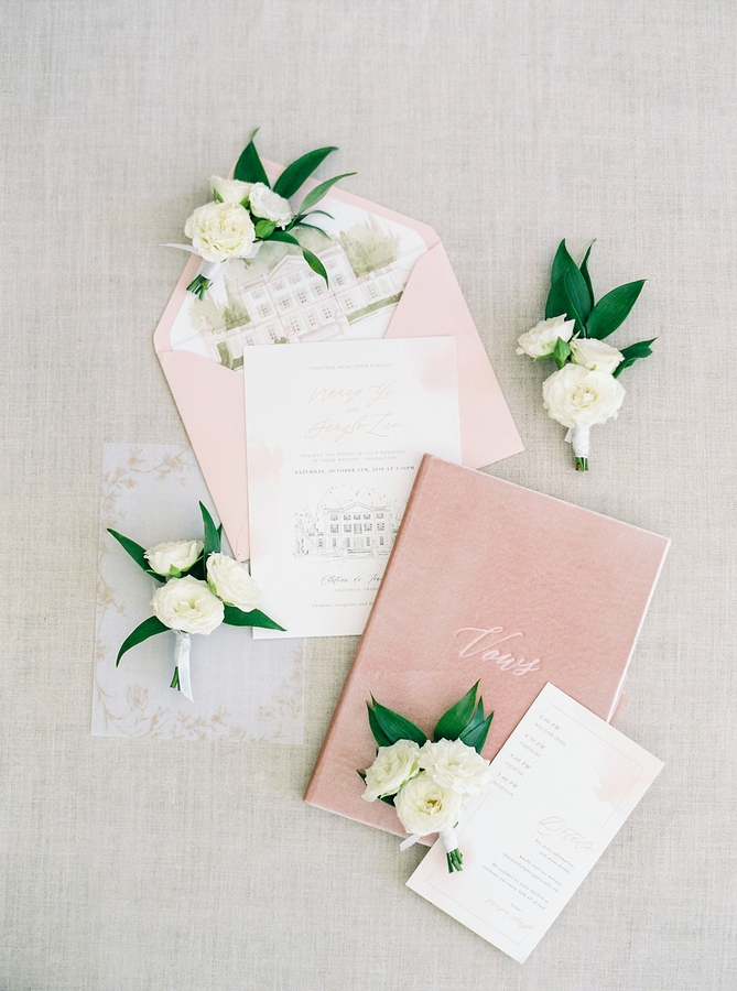 Stationery Wedding Romantic Wedding in Provence
