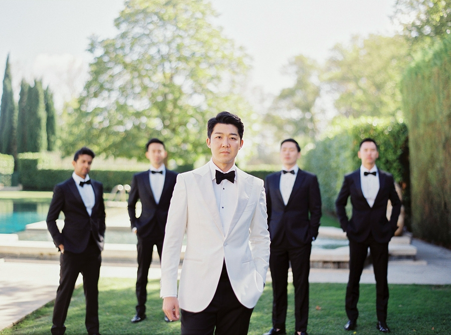 Groom and Groomsmen Portrait Romantic Wedding in Provence