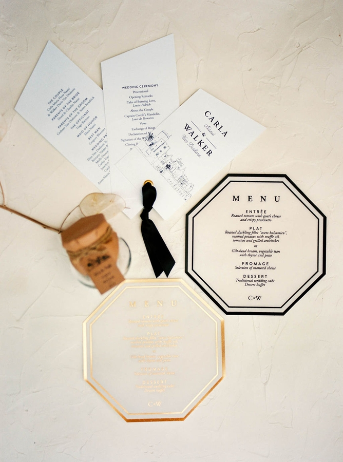 Invitations Seaview Chateau Wedding