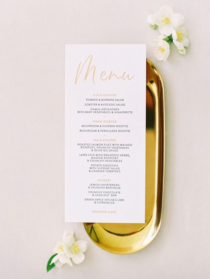 menu wedding saint jean cap ferrat